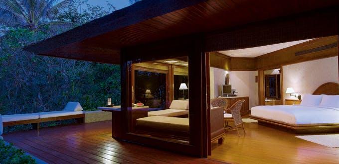 A casita bedroom and sun deck