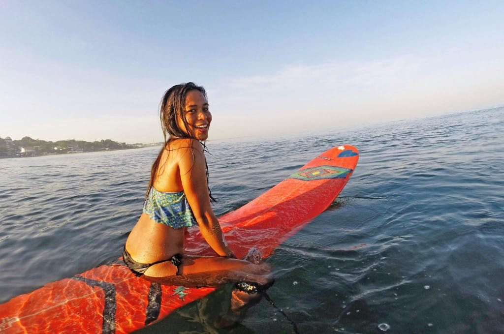 Catching waves in La Union