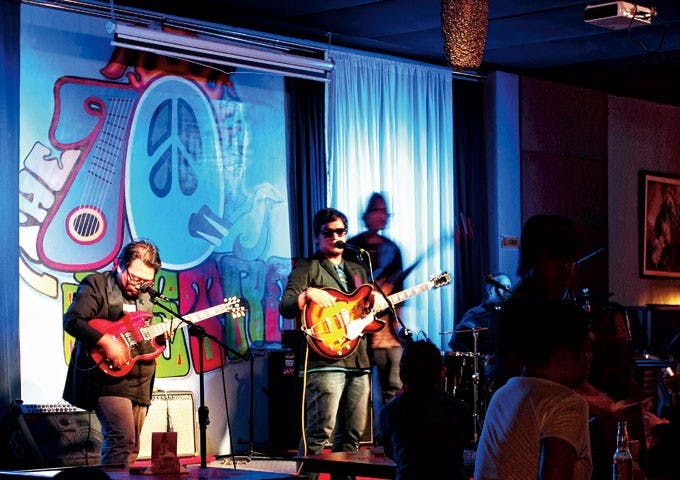 The Satellites Band at 70's Bistro. Photo by Dane Soriano