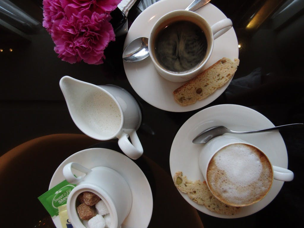 Raffles' coffee smelled promising, but was ultimately a letdown