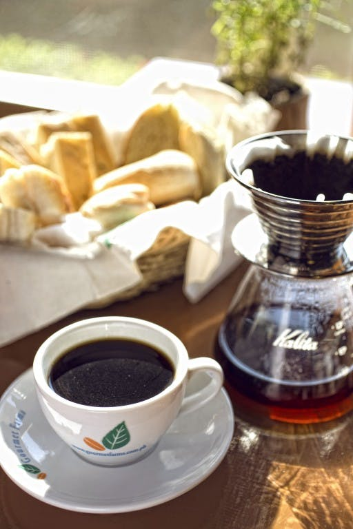 Gourmet Farms' coffee are made from scratch, right within the farm. It pairs well with the homemade bread