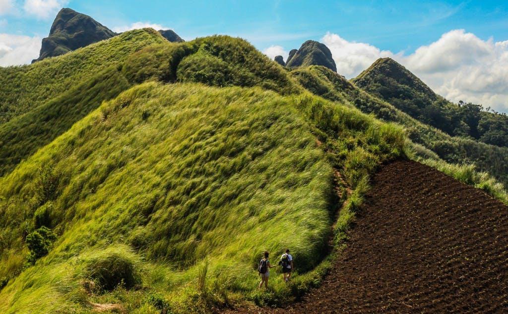 The view from Mt. Batulao in Nasugbu, Batangas