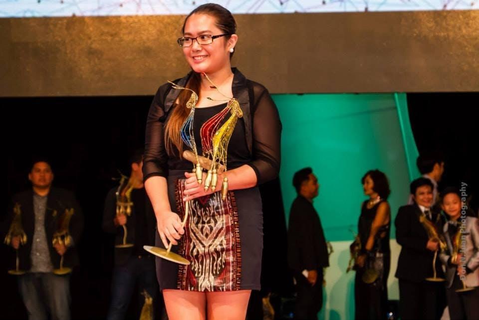 Ida accepts the Special Jury Prize at Cinemalaya 2014. Photo by Don N. Juan