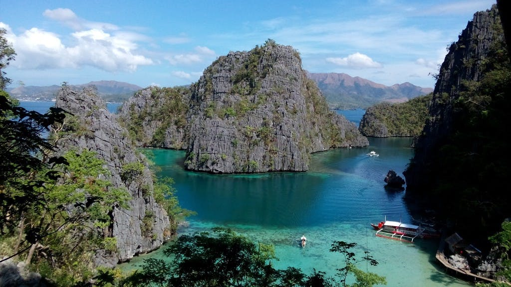 Karst islets that make up the Calamian Group of Islands off Coron. By Amanda Lago
