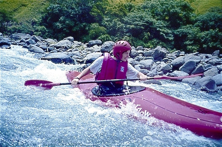 Taking on the rapids of Tibiao. Photo courtesy of Tribal Adventures