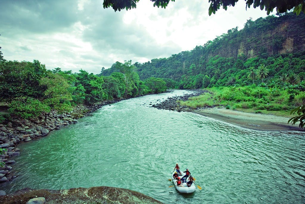 Wild water rafting in Davao. Photo by Juan Cagicla