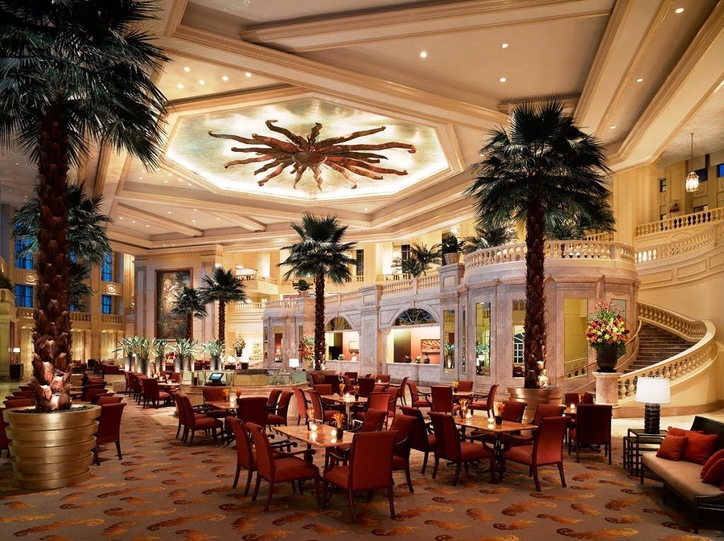 The Manila Pen lobby. Photo courtesy of the Peninsula Manila