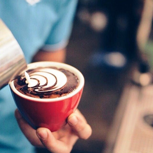 A mocha, made with African grown Forastero and Trinitario cocoa. Photo courtesy of Yardstick