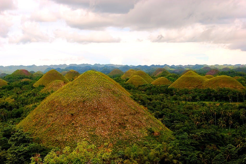The famous chocolate hills in Bohol. Photo by Mike Alcid