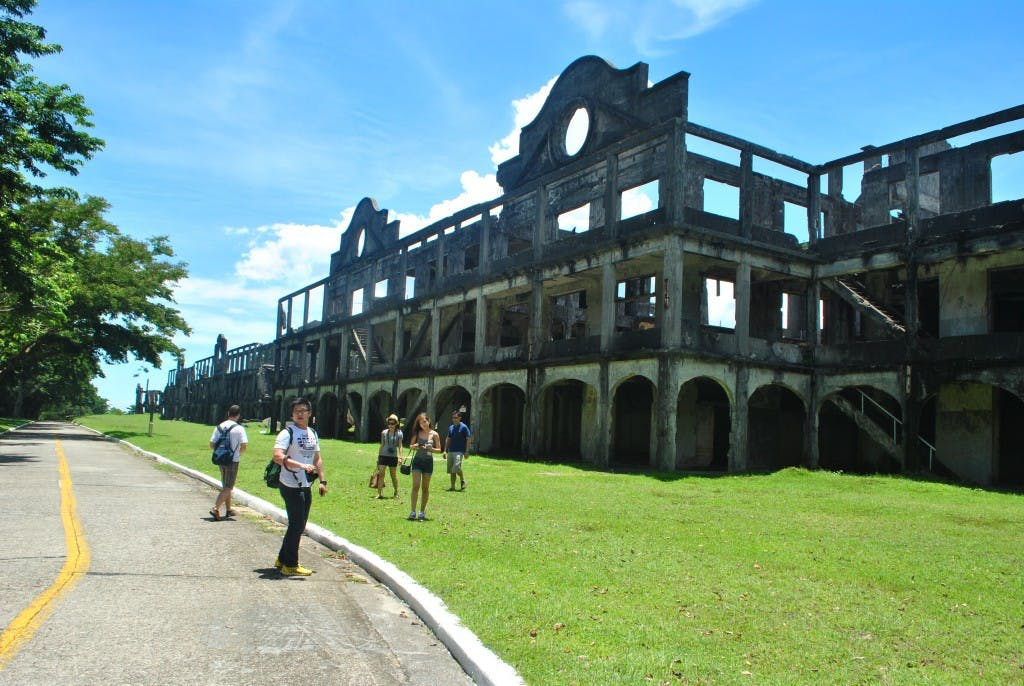 Tour of the mile-ling barracks at Topside, Corregidor. Photo by Bernard Supetran