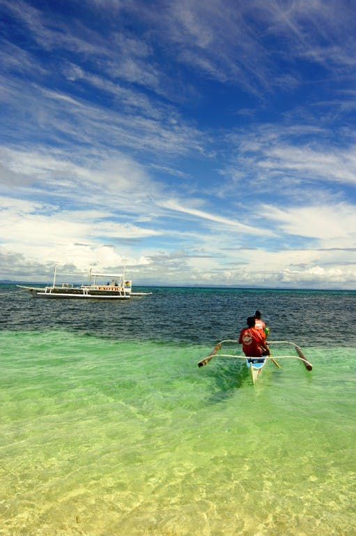 Crystal waters in Malapascua, Cebu. Photo by Caloy Legaspi