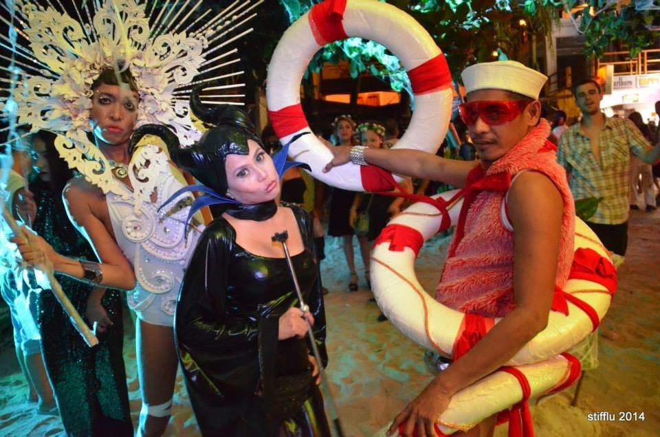 The writer (center) with her co-judges Angelo Villanueva a.k.a. SupermodelDiva and Ed Aniel a.k.a. Perfect Ed at last year's Epic Boracay Halloween Ball. Photo by Christian delos Santos