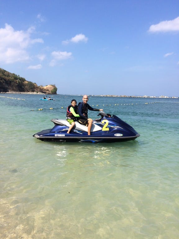 Jet skiing, one of the water sports offered at Canyon Cove
