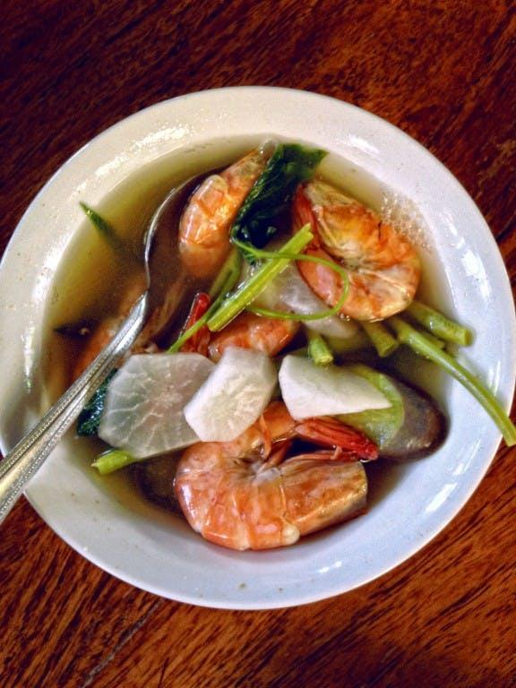 Kainan Sa Dalampasigan's sinigang na hipon (shrimp in sour sour)