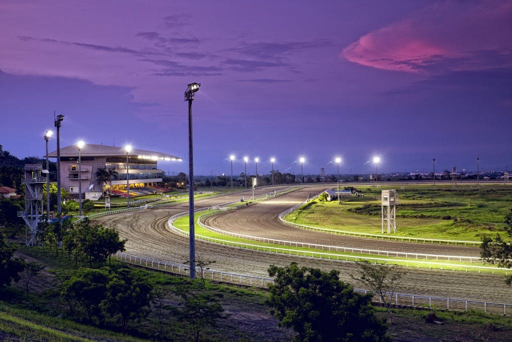 The race track at the Manila Jockey Club in Carmona, Cavite