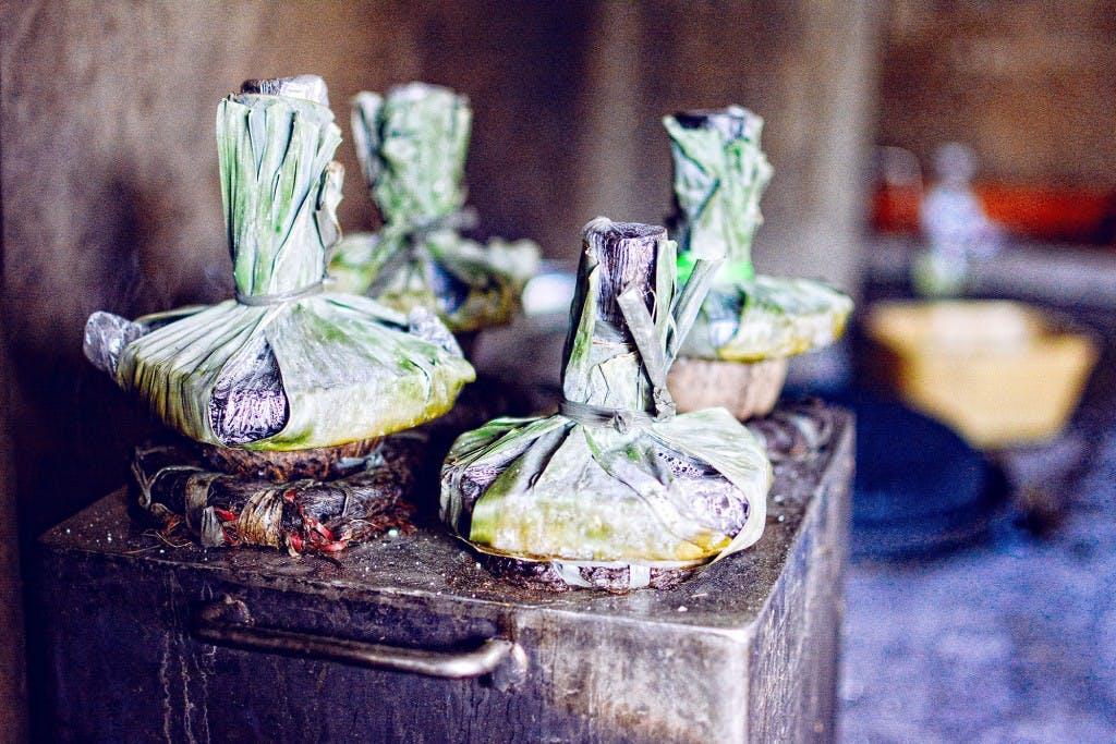 Rice puto making in Ligao