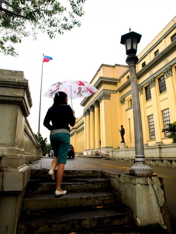 Outside the National Museum. Photo by Ferdz Decena