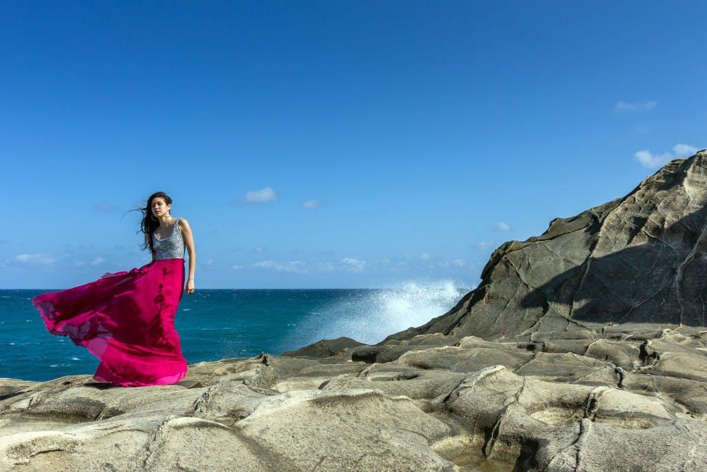 Kapurpurawan Beach's limestone cliffs. By Daniel Soriano