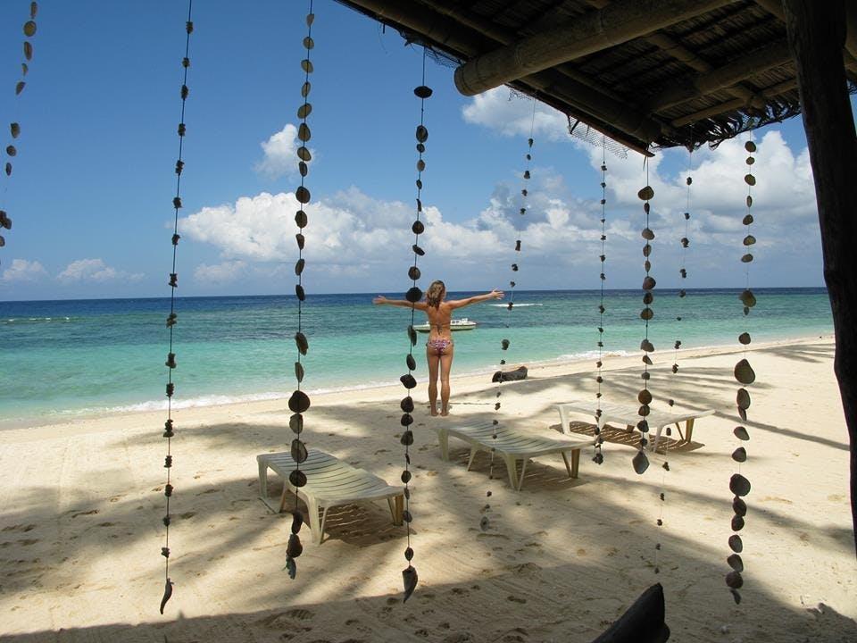 Hinugtan Beach is a 45-minute boat trip from Boracay Island