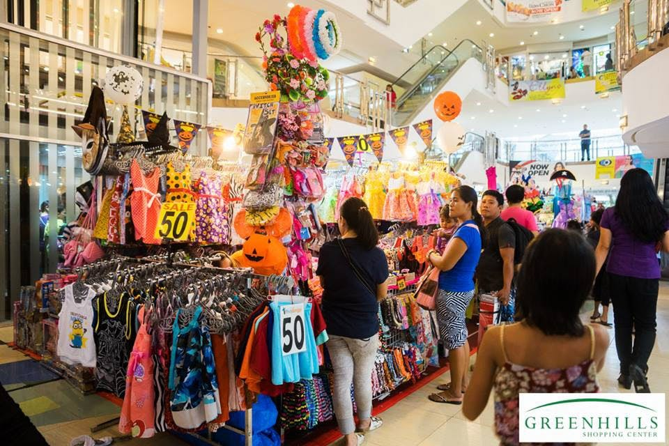 Tiangge stalls in Greenhills Shopping Center pinched from Greenhills Shopping Center's Facebook page