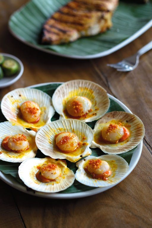 Grilled scallops from Aboy's by Mark Antang