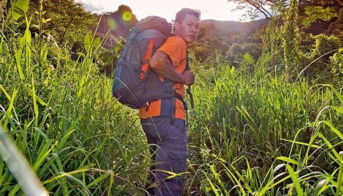 Mountain climber Nesty Zapanta on a trail in Mt. Arayat