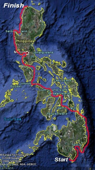Buzzy and Khoo covered the length of the Philippines by kayak for 88 days. Screengrab from Buzzy Budlong Facebook