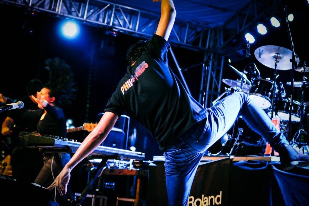 RJ dancing like a madman at the 2016 Malasimbo festival. Photo by Ice Javellana