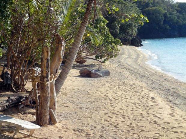 San Pedro Beach Resort's beachfront. Screengrab from Romblon Tour & Travel Guide's Facebook page