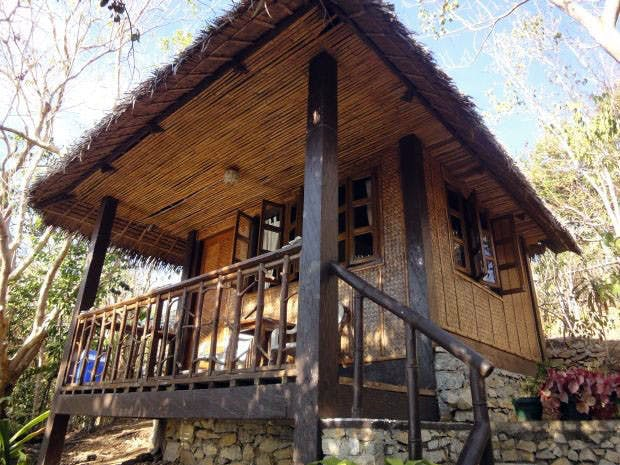 San Pedro Beach Resort's native style cottage. Screengrab from Romblon Tour & Travel Guide Facebook page