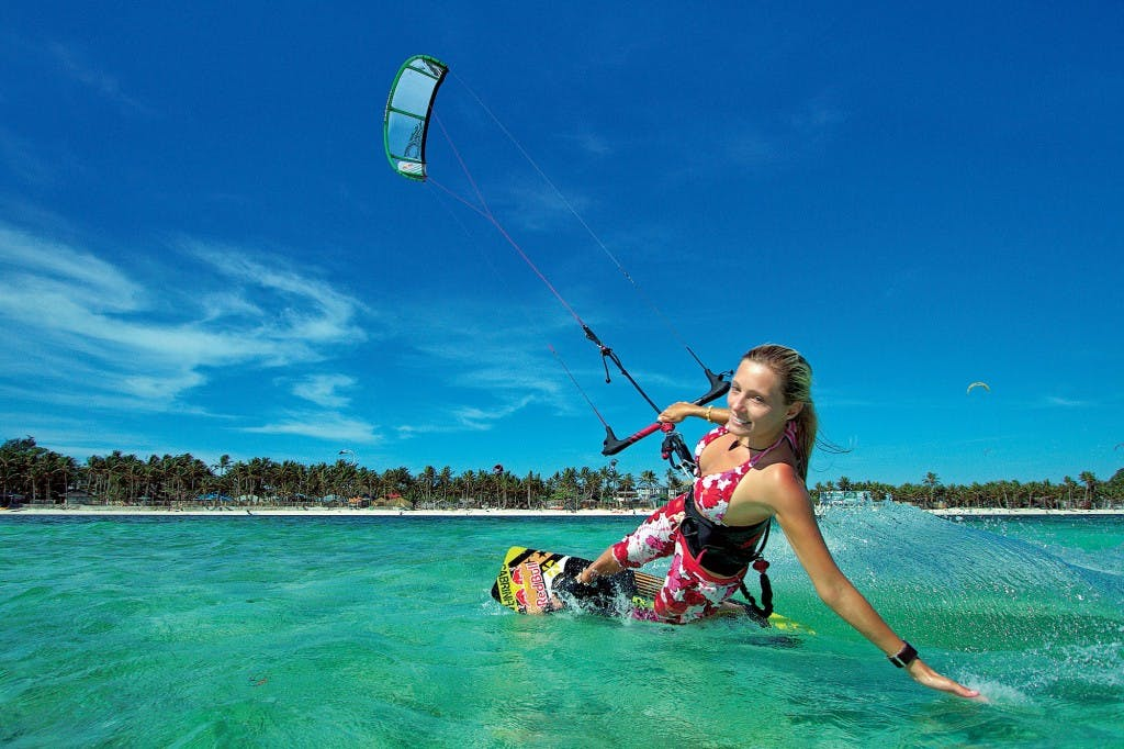 Kite surfing champion Susi Mai By Damien Francis