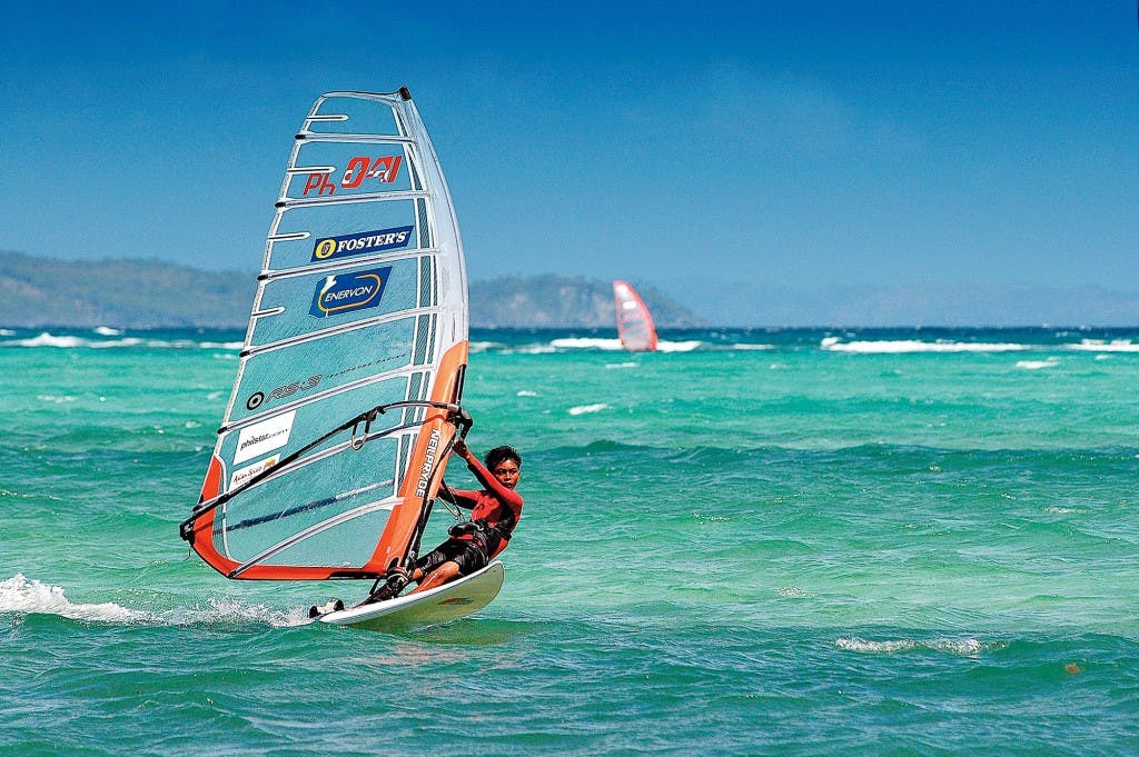 Windsurfing in Boracay by David Cheung