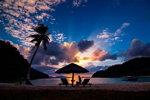 Sunset at Secret Paradise Resort by Mon Corpuz. Pinched from secretparadiseresort.com