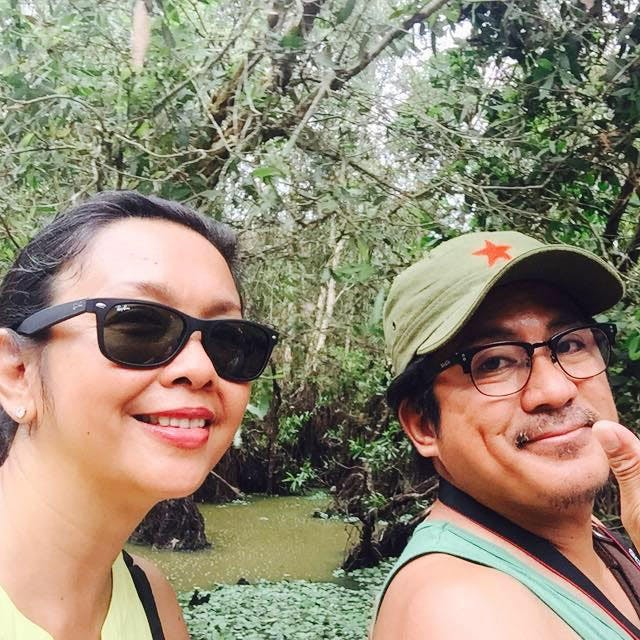 Isay and Robert in Vietnam pinched from Isay Alvarez Sena's Facebook page