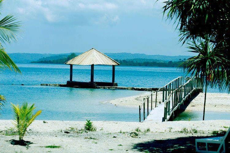 Nagarao Island Resort's beachfront pinched from Nagarao Island Resort's Facebook page