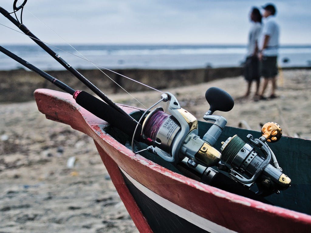 The reel and rod all set up for fishing By Ferdz Decena