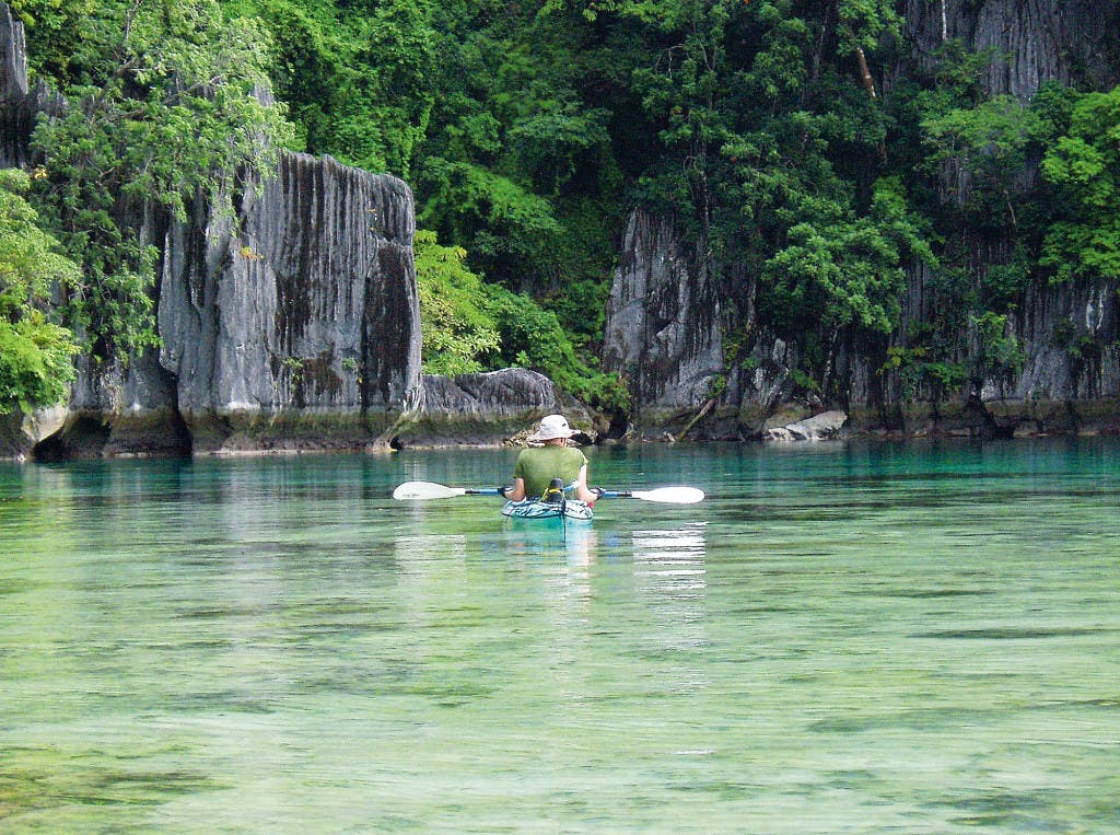Kayaking around Coron