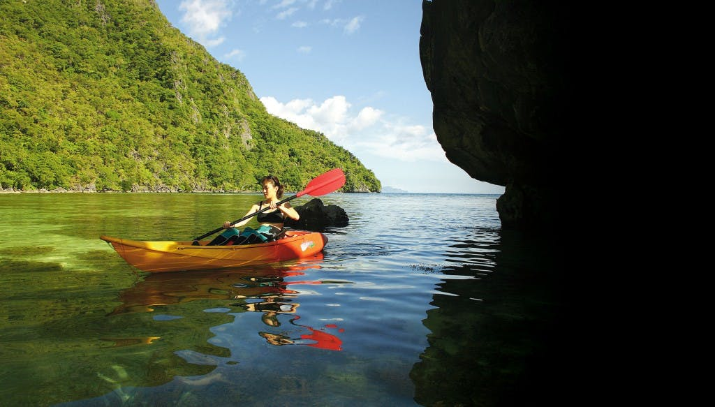Kayaking in Coron