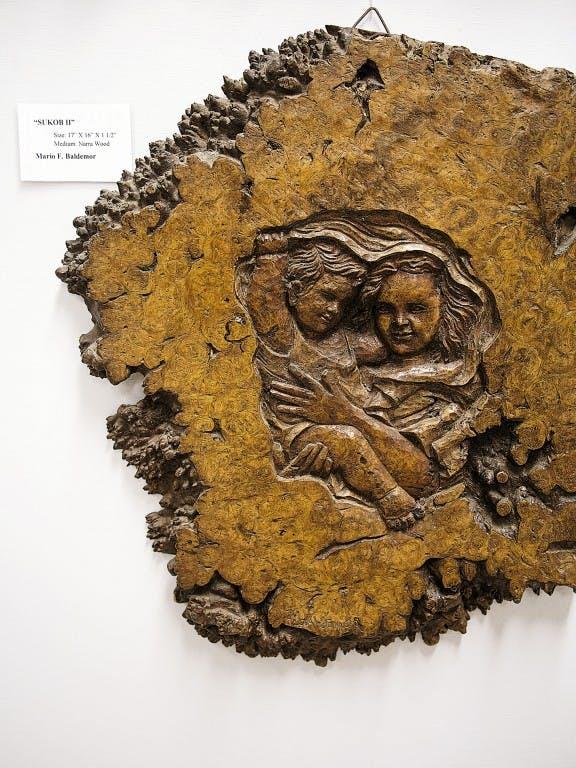 A woodcarved art in Paete by Mario Baldemor. By Ferdz Decena