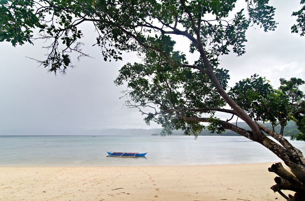 The idyllic beach of Guinanayan Island