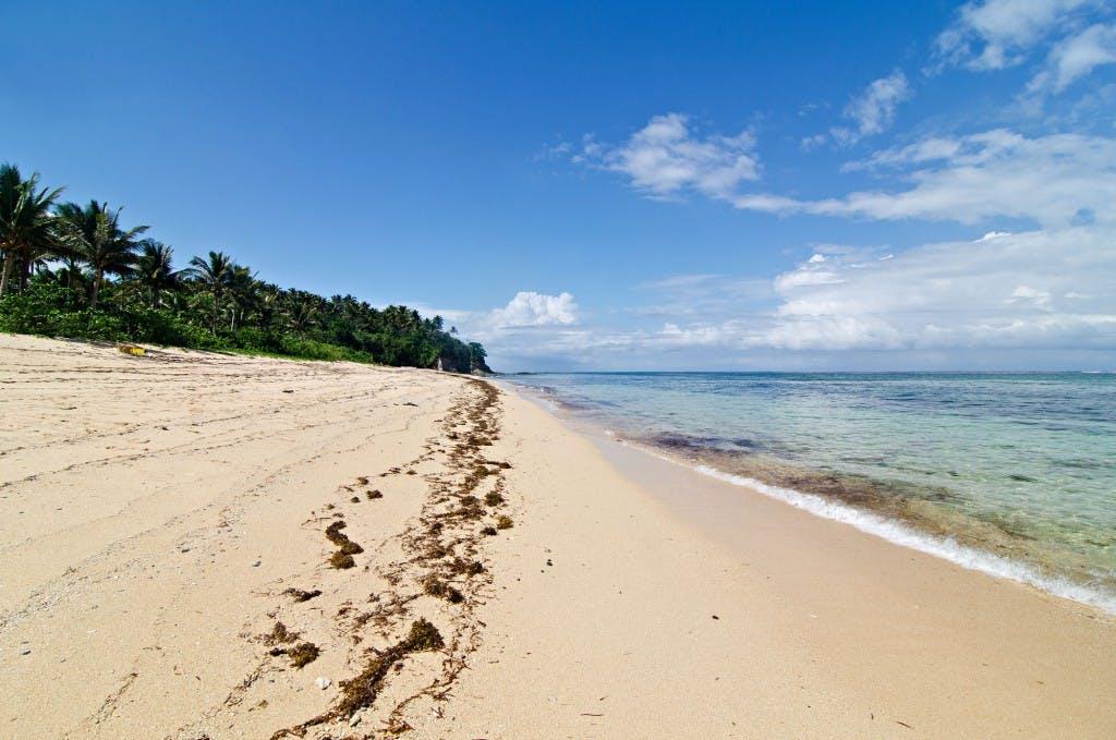 Sitio Cabungaan's cream sandy beach