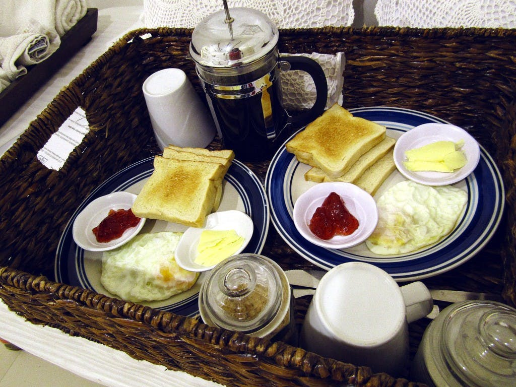 Breakfast in bed, if you must