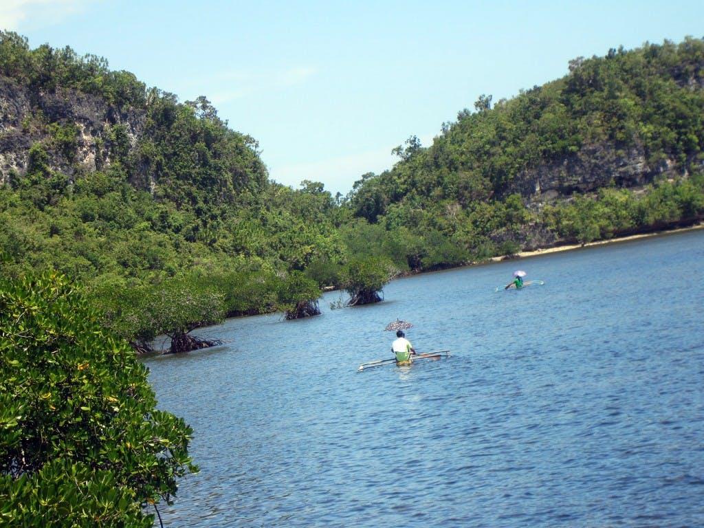 The waters surrounding Bohol's mystical Lamanok island