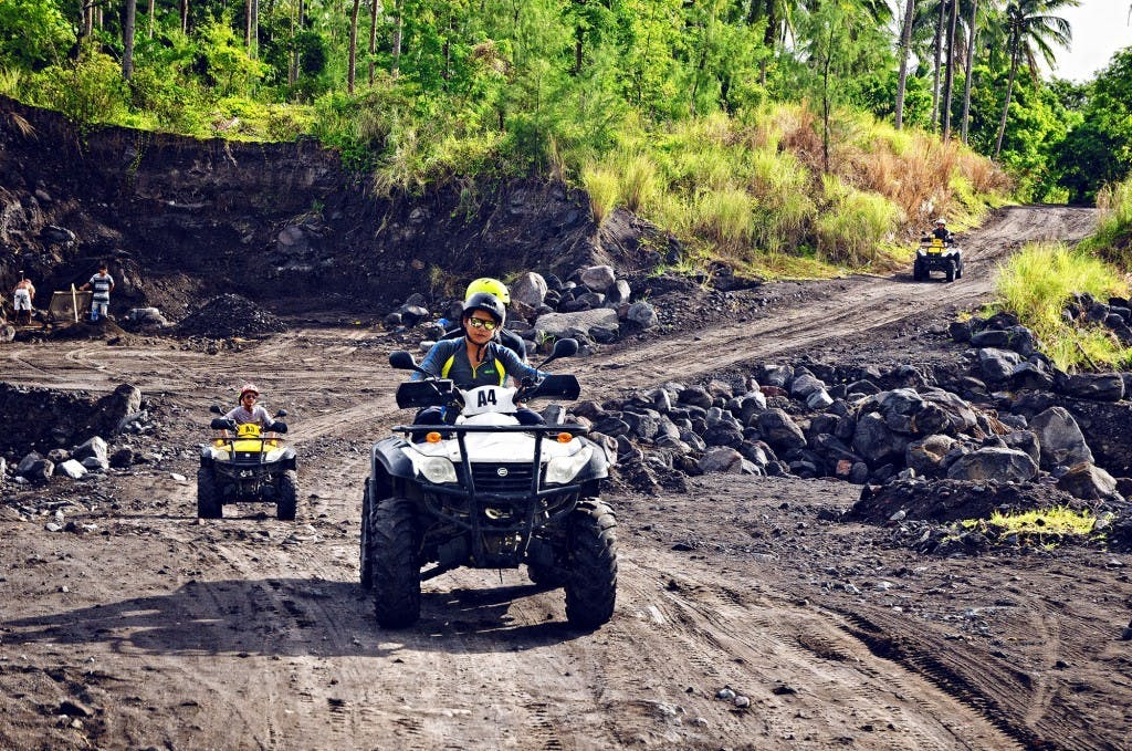 ATV riding off Mt. Mayon in Albay in the Bicol region. Bicol is one rising star, according to Clemente. By Christian Sangoyo