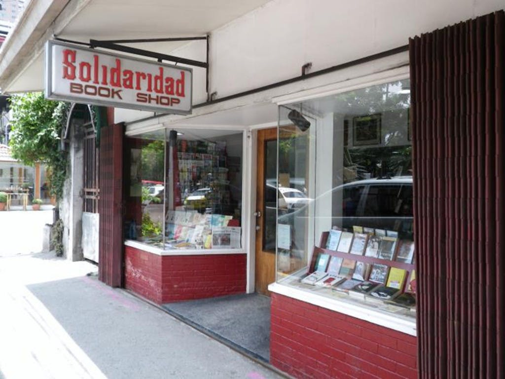 Solidaridad Bookshop in Manila. Pinched from Solidaridad Bookshop's Facebook.