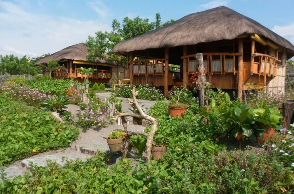 Bamboo cottages in San Juan, La Union. Screengrabbed from Airbnb