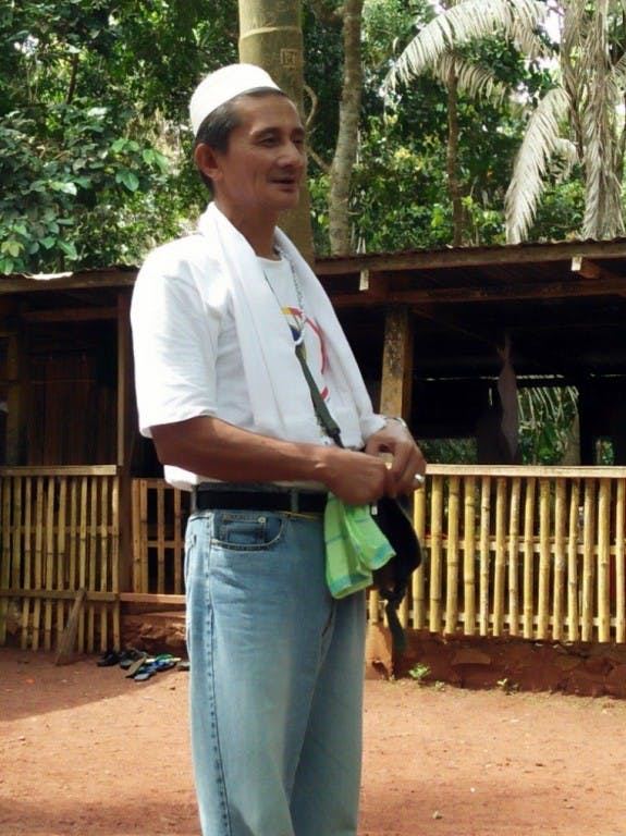 Sulu local Rudy Hamja, protector of Bud Bungao. Courtesy of WWF-Philippines