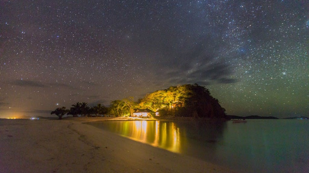 One starry night at Bamboo Private Islands
